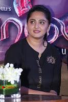 Actress Anushka Shetty Stills in Black Gurthi at Baahubali 2 Press Meet  0008.jpg