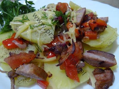 Zapiekanka z ziemniaków i wędliny