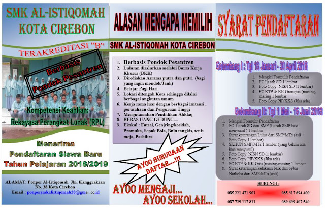 Pendaftaran Siswa Baru SMK Al-Istiqomah