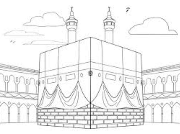 Gambar Mewarnai Masjid Gambar Mewarnai Lucu