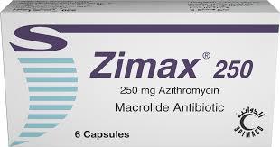 سعر ودواعى إستعمال دواء زيماكس Zimax كبسولات شراب مضاد حيوى