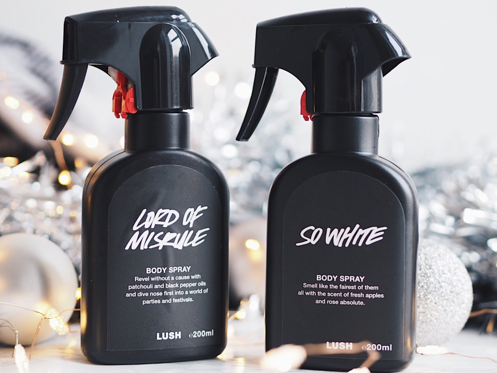 lush christmas 2017 body sprays lord of misrule so white