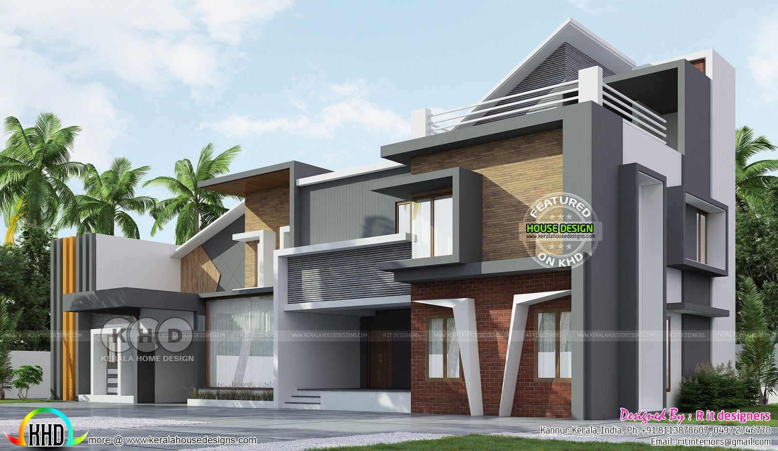 Luxury ultra modern house with 5 bedrooms - Kerala home ...