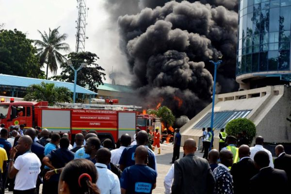Ecobank generator house gutted by fire