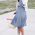 gingham dress + wedge espadrilles