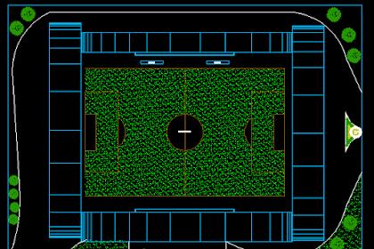 Gambar Kerja Stadion Sepak Bola Dwg Lengkap