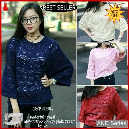 AND035 Baju Atasan Wanita Blouse Crop Jaring BMGShop
