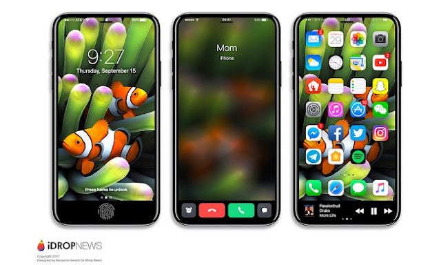iDropNews brings some beautiful concepts in images which shows the new Function Area of upcoming iPhone 8 with some functionality in it.