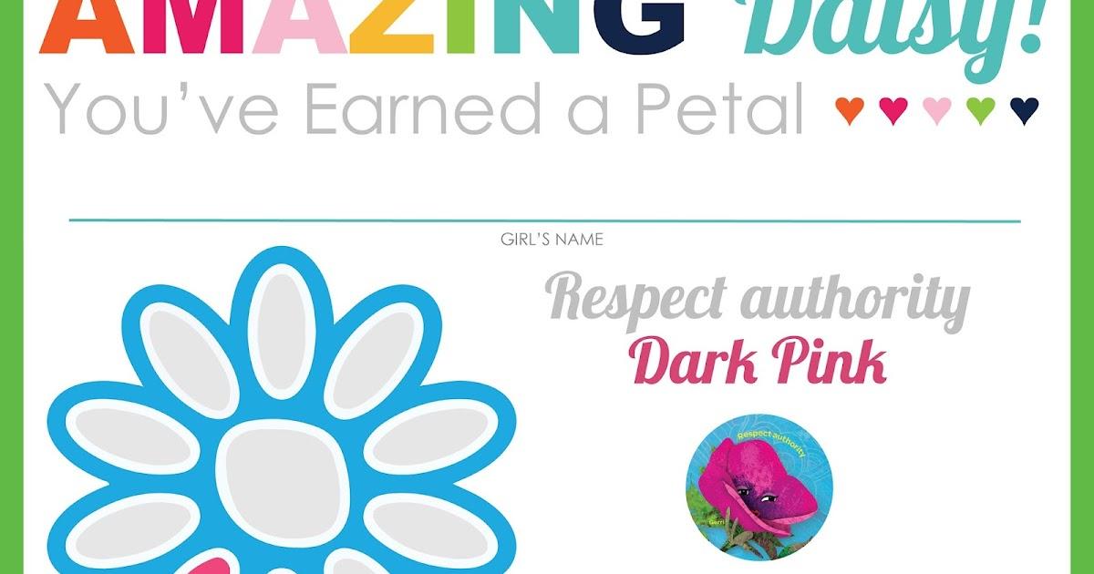 I am Girl Scouts: Amazing Daisy Petal & Leaf Certificates