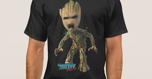 Guardians of the Galaxy Vol. 2 | Groot Yell Men's Basic Dark T-Shirt