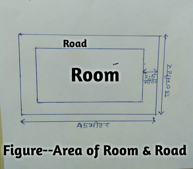 Area of plane figures,,Area of rectangular room and road