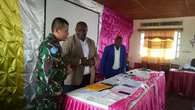 Prajurit Satgas TNI Kunjungi Gubernur Kalemie Democratic Republic of Congo