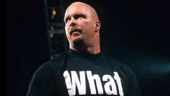 'What?' T-shirt as worn by 'Stone Cold' Steve Austin. PYGear.com
