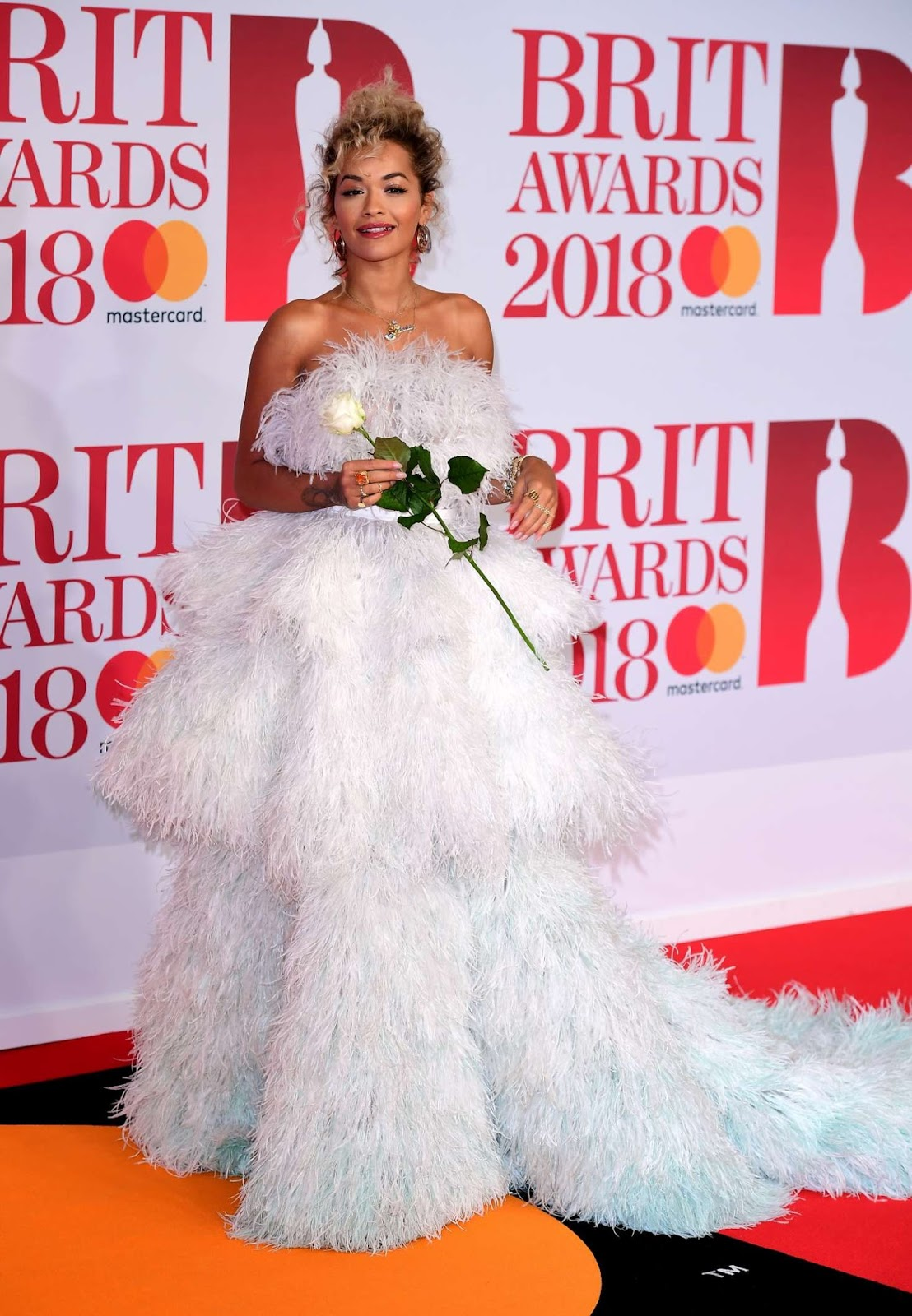 Rita Ora oozes off sartorial elegance at the 2018 BRIT Awards