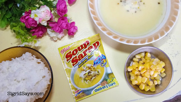 MAS SOUP SARAP Instant Soup Chicken and Corn