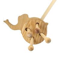 PW03, Push along Elephant, Lotes Wooden Toys