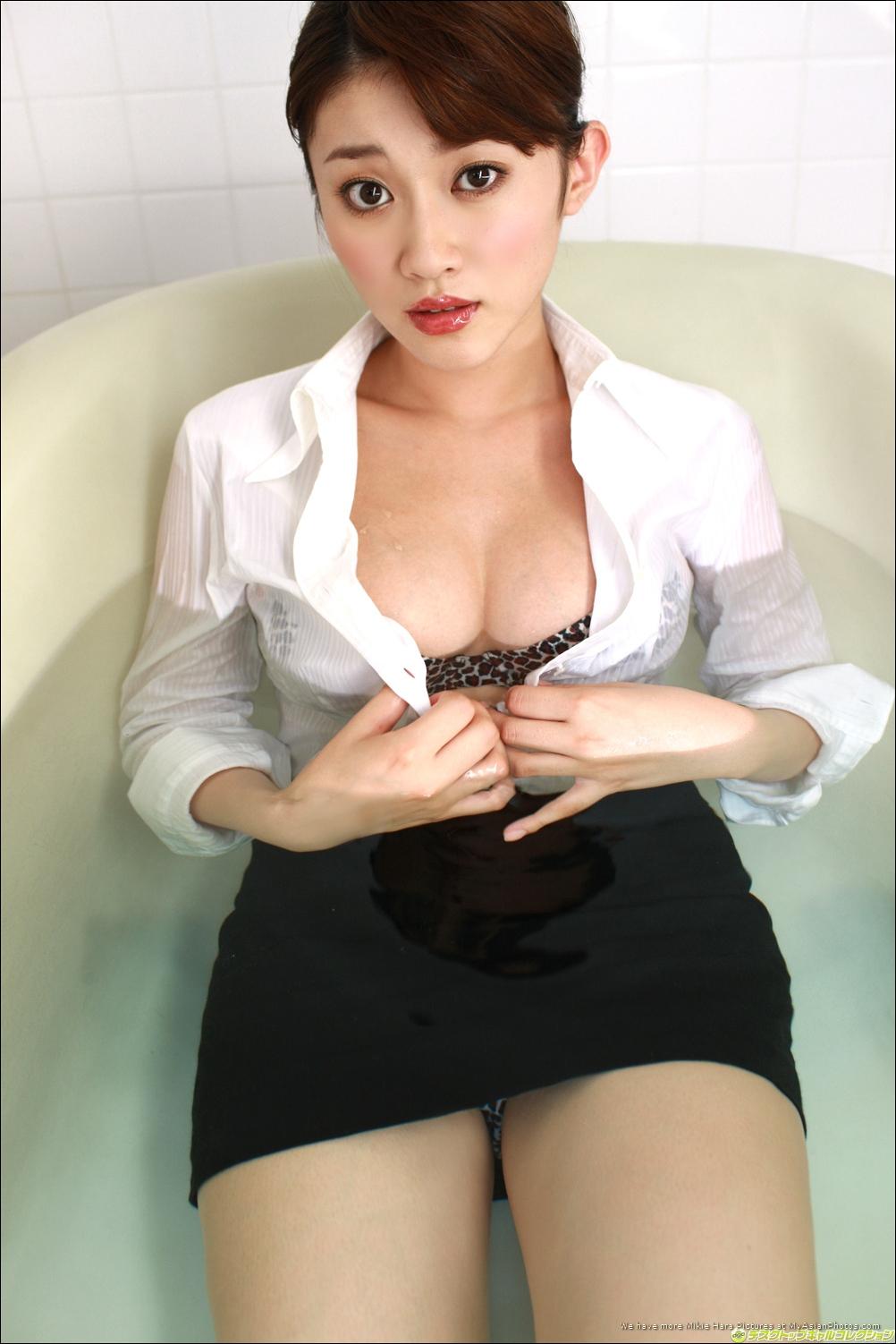 Mikie Hara undress sexy uniform - Japanese actress ~ JAV Photo- Sexy Girl