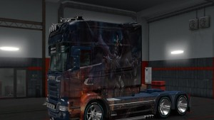 Scania RJL Veverna and Girl Skin