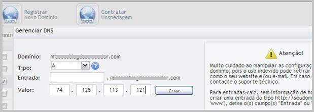 Configurar domínio Uol  Host 8