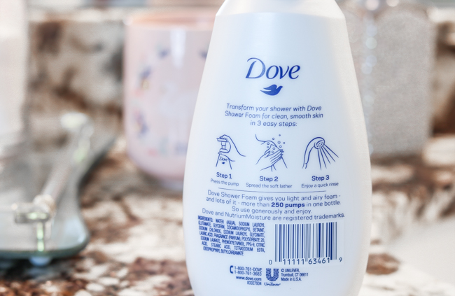 dove shower foam