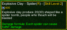 naruto castle defense 6.2 Deidara Explosive Clay - Spider detail