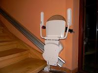 Krzesełko schodowe na szynie prostej Otolift