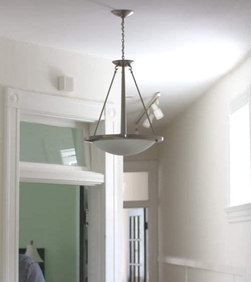 hallway pendant light. We\u0027ve Got Another Lamp Update We\u0027re Excited To Share The Results From Today \u2014 This Go Round, We Replaced Hanging Fixture In Our Upstairs Hallway With An Pendant Light