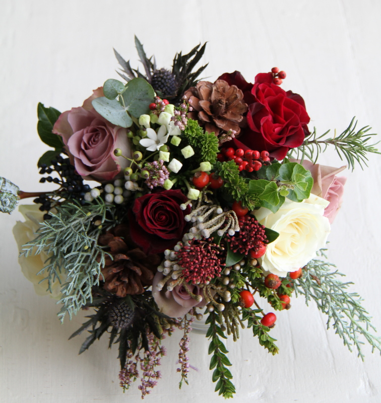 The Flower Magician: Gorgeous Christmas Wedding Bouquet