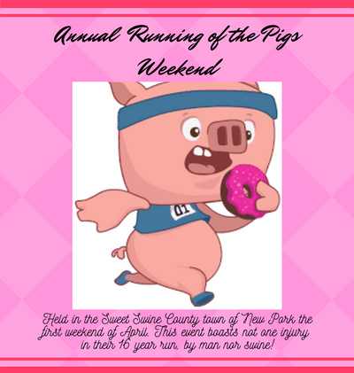 A lawsuit looms when a pig is tripped by Sweet Swine County citizen Ronnie P Silage!