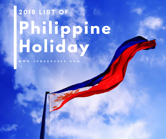 2018 List of Philippine Holidays