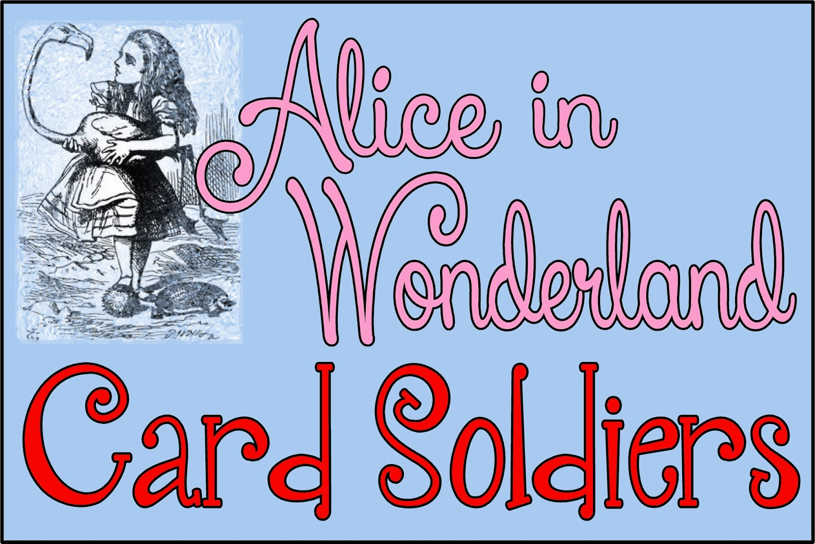 hollyshome family life: alice in wonderland card soldiers - free