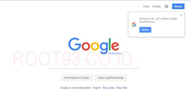 halaman depan google