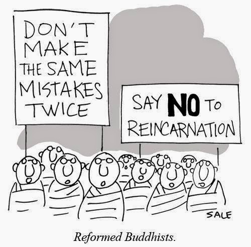 Funny reformed Buddhists cartoon - Don't make the same mistakes twice