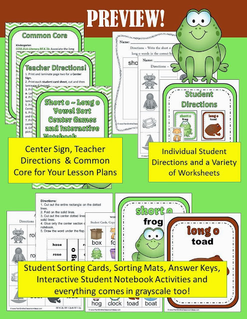 http://www.teacherspayteachers.com/Product/Vowel-Sorting-Short-o-Long-o-Center-Games-and-Interactive-Notebook-Activities-960146