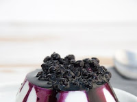 Coconut Panna Cotta with a Blueberry Topping
