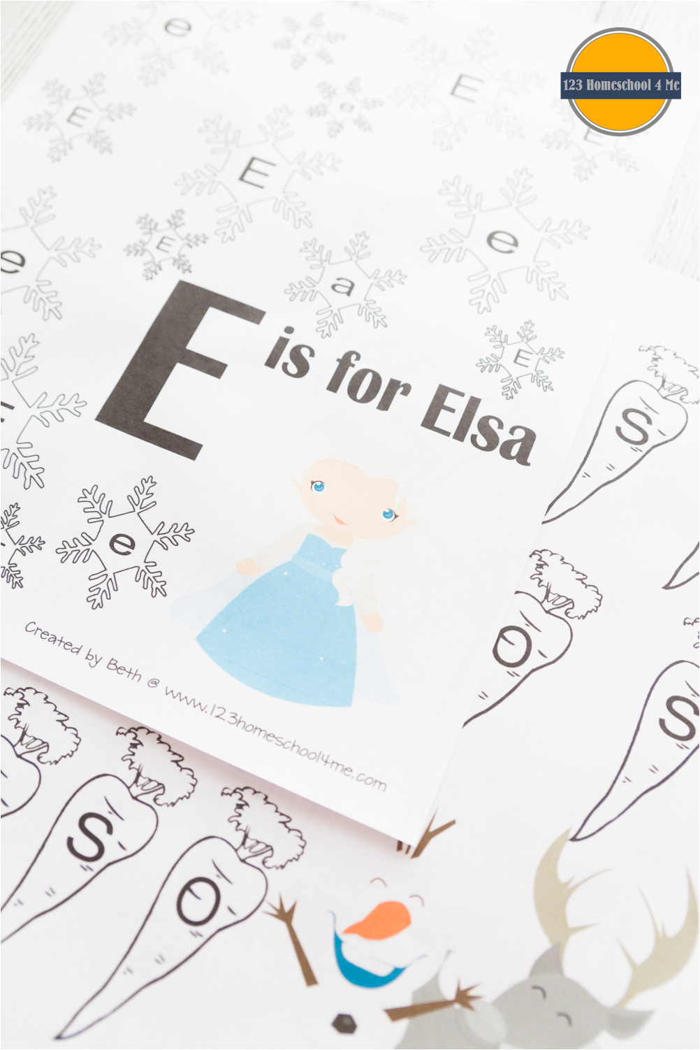 FREE Disney Frozen Worksheets for Kids