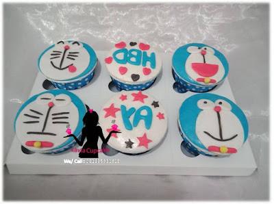 Cupcake Doraemon imut dan lucu