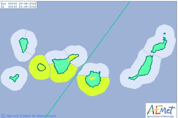 Avisos por viento y oleaje Canarias, jueves 19 y viernes 20 abril