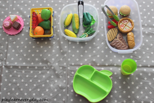 ... go through the whole process of school dinners starting with seeing the food all set up before them and choosing their own plate and cup for their meal. & Back to School - Fun with School Lunches - Play and Learn Every Day