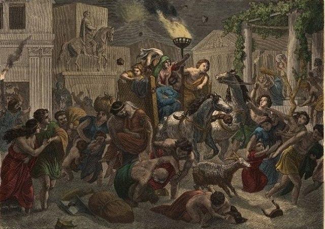 Erupción del Vesubio sobre Pompeya
