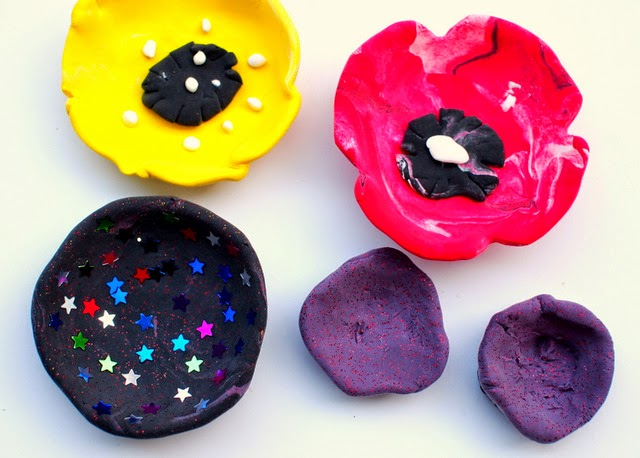 ring bowls made for Mother's day using air dry clay