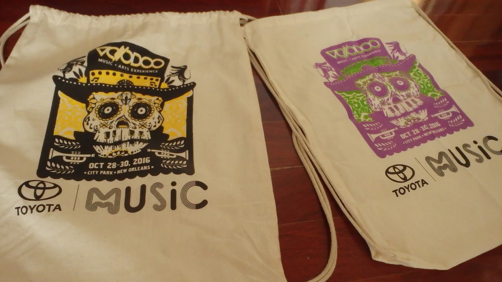 Voodoo Fest 2016 screen printed bags