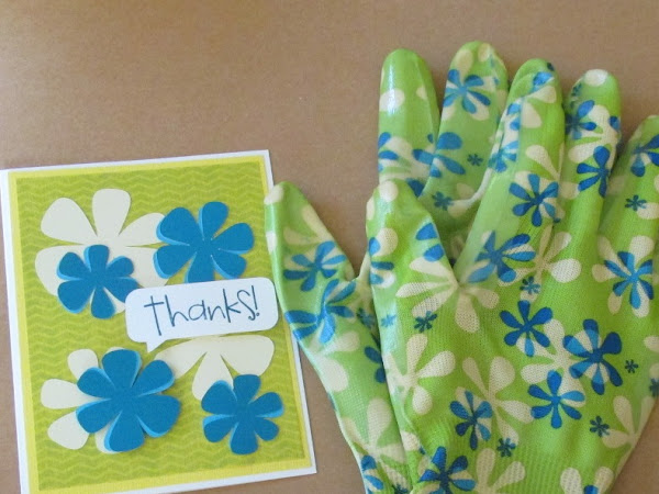 Inspired by Garden Gloves: Thank you Card.
