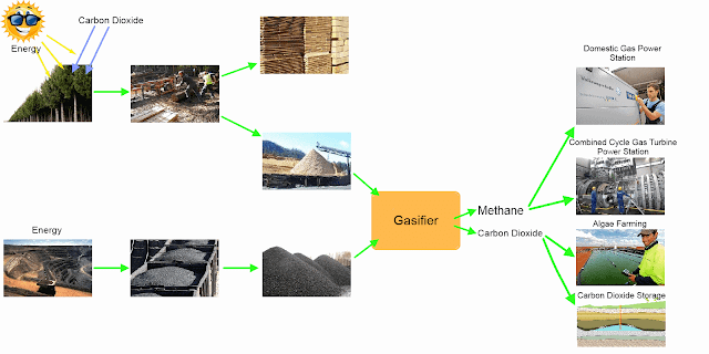 Biomass combined with carbon dioxide capture and storage to remove CO2 from the atmosphere