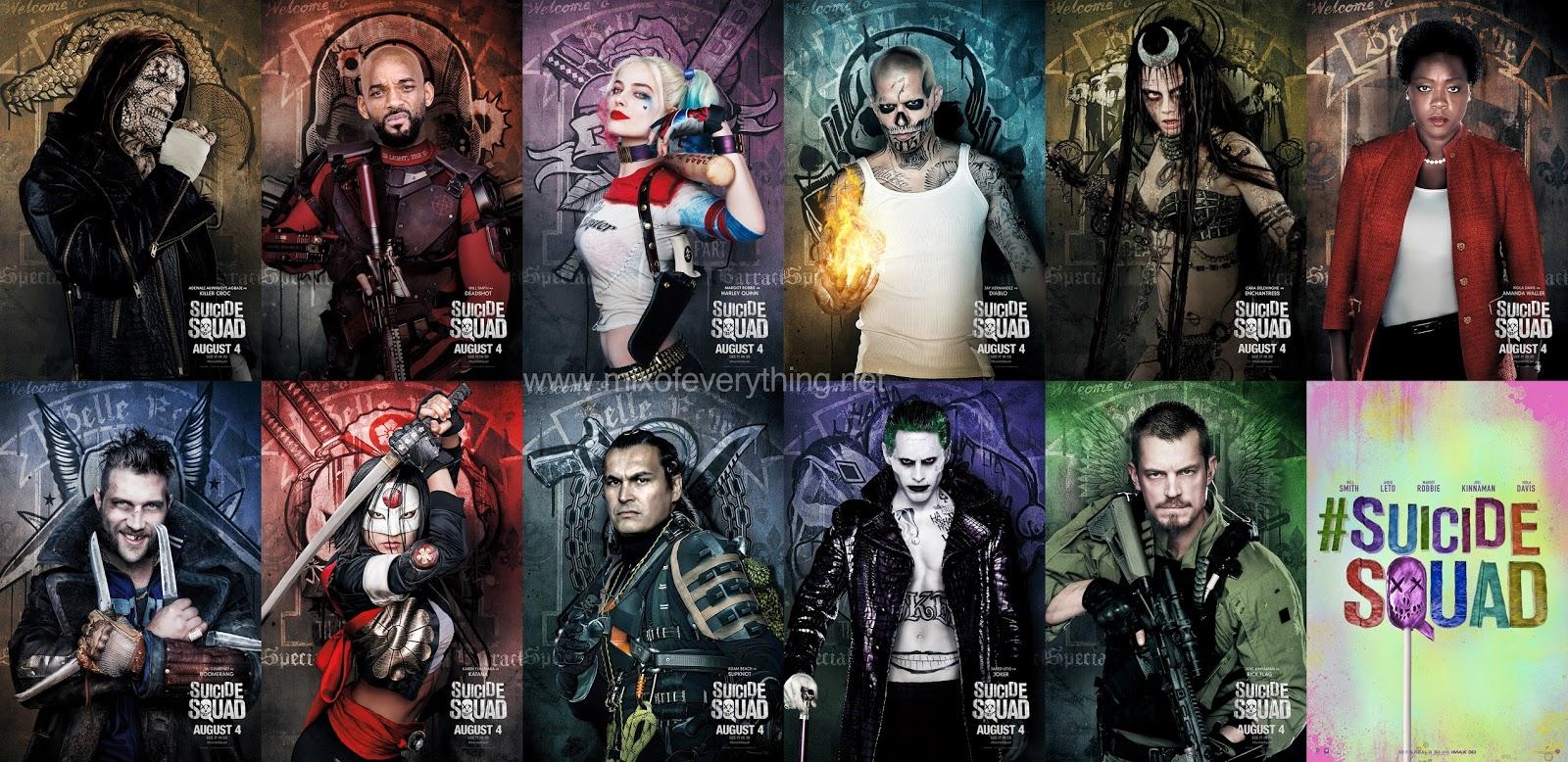 スーサイドスクワッドの登場人物11人の壁紙
