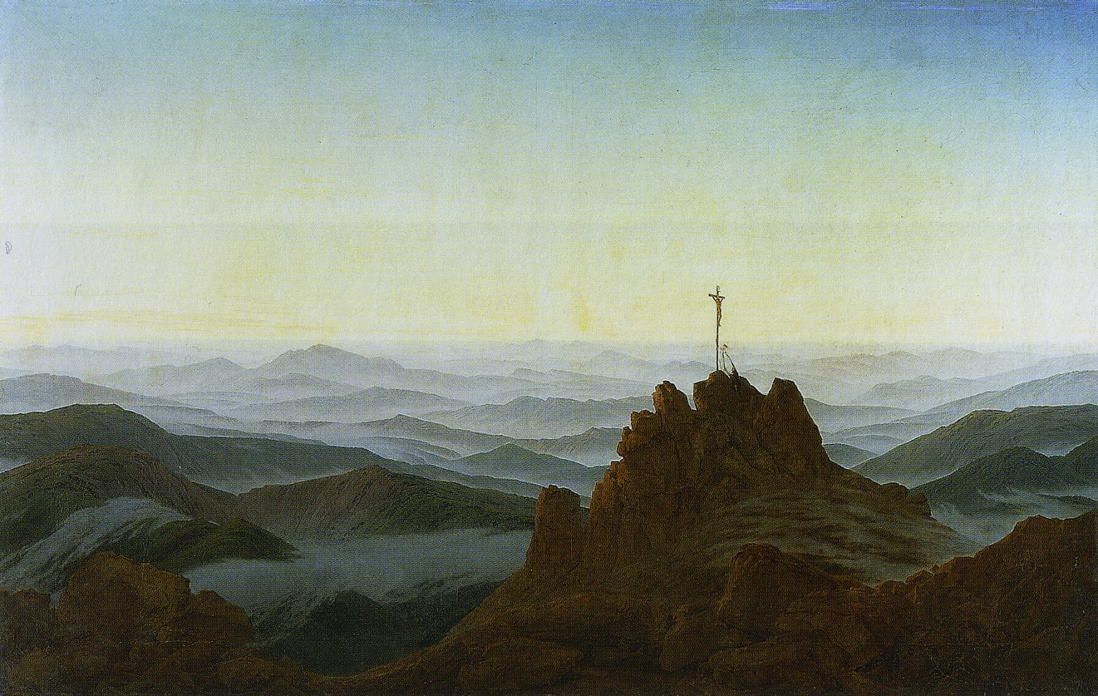 romanticism in the visual arts caspar david friedrich the pictured world within. Black Bedroom Furniture Sets. Home Design Ideas