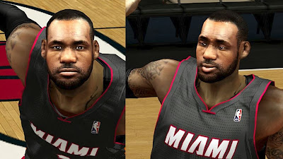 Realistic LeBron Face Next-Gen Graphics Mod