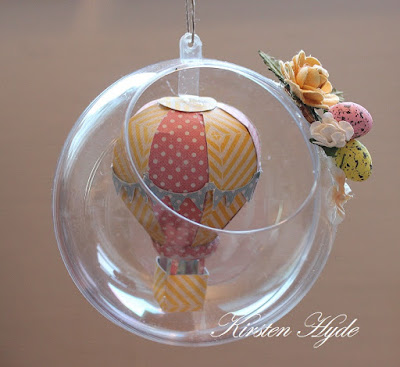 My Craft and Garden Tales Easter ornament with a hot air