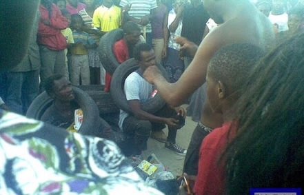 Two teenagers beaten, stripped naked for stealing TV, N600,000 in Ogun [PHOTO]