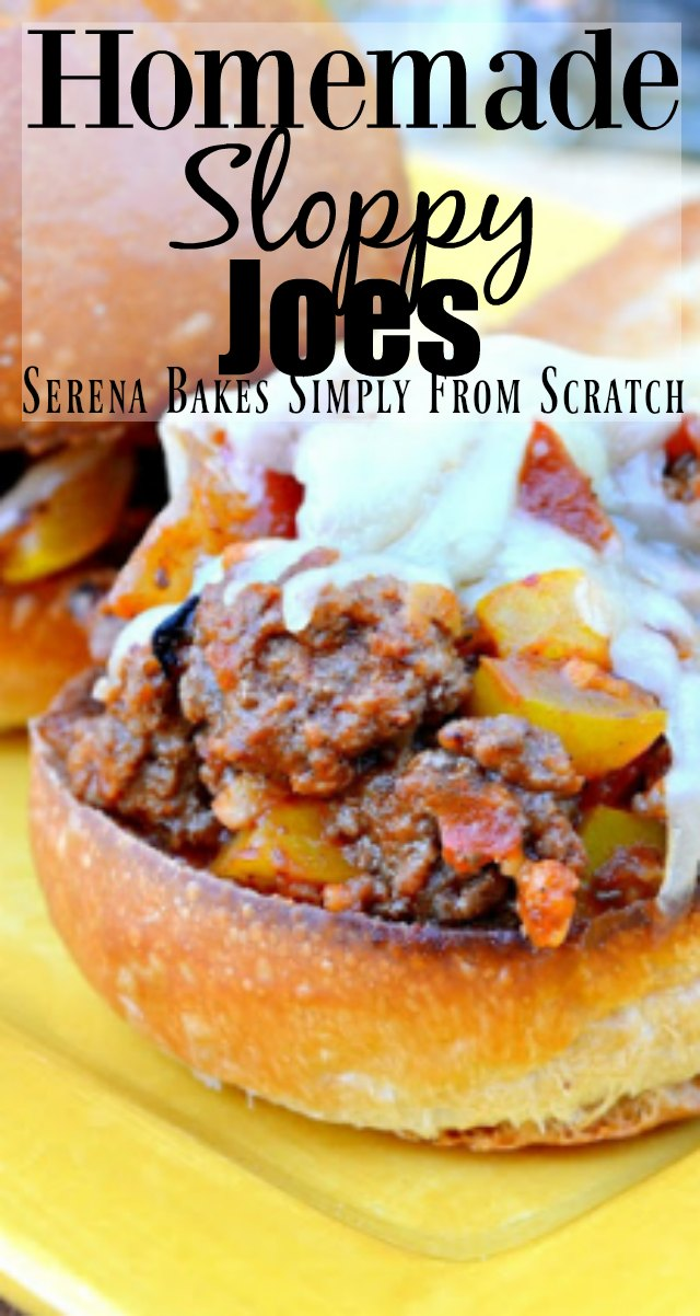Homemade Sloppy Joe recipe with a gluten free option is an easy dinner favorite in under 30 minutes from Serena Bakes Simply From Scratch.